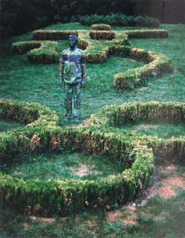 garden from the olympic games by liu bolin