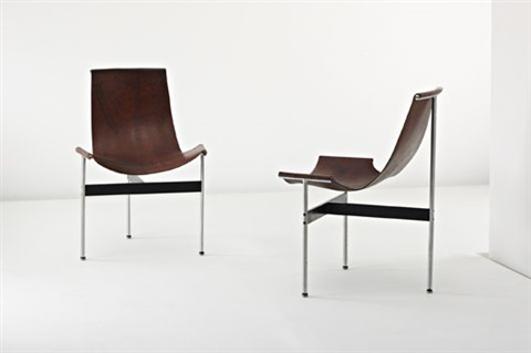 t chairs pair by douglas kelly ross littell and william katavolos