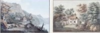 vue de la chapelle de guillaume tell (+ hic libertatem nostri posuere parentes; 2 works) by henry fuseli