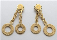 earrings (pair) by bulgari
