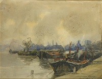 sloepen by jacob henricus maris