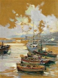 fischerboote am strand by g. solenghi