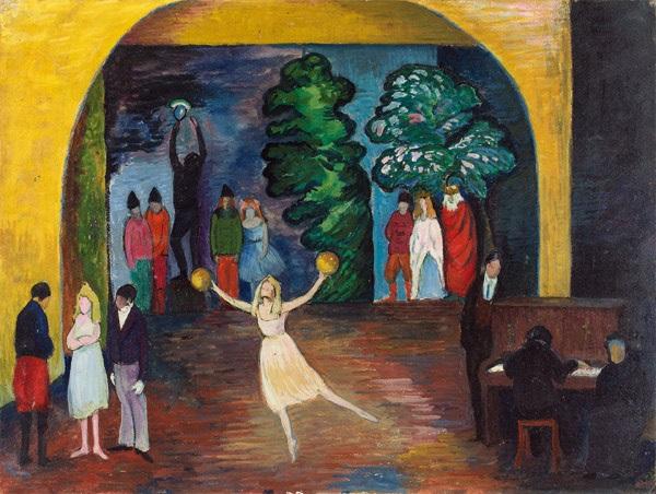 cabaret in ascona by marianne werefkin