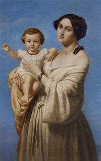 mother and child by marie-alexandre (menut) alophe