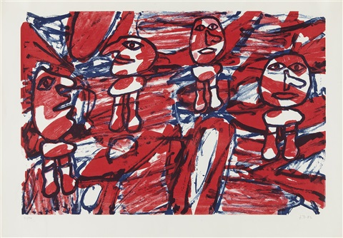 les passants by jean dubuffet