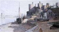 caernarfon castle and the menai straits by john mcdougal