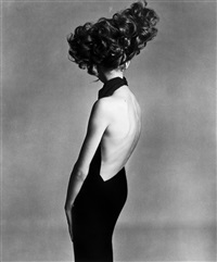 jean shrimpton, evening dress by galitzine by richard avedon