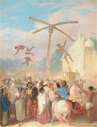 indian acrobats by anglo-indian school (19)