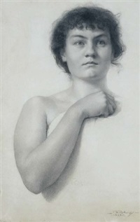 portrait of miss agnes cox by florence rodway