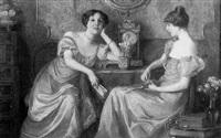 zwei elegante damen im gespräch by otolia kraszewska