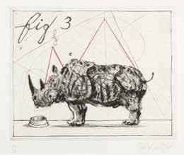 three rhinos: fig. 3 by william kentridge