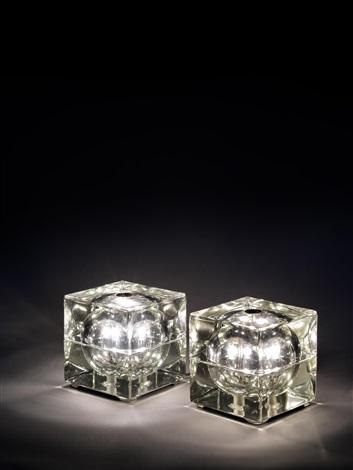 cubosfera lamps pair by alessandro mendini