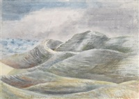 maiden castle, dorset by paul nash