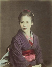 portrait d'une japonaise by raimund von (baron) stillfried-rathenitz