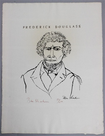 frederick douglass suite four from the series by ben shahn