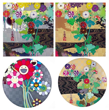 澗聲 kansei series set of 4 by takashi murakami