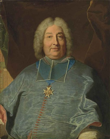 portrait of charles gaspard guillaume de vintimille du luc archbishop of paris 1655 1746 half length in a blue coat by hyacinthe rigaud