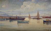 barche in porto by e. cortese
