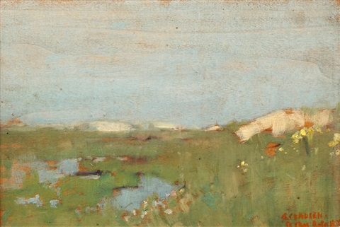 sand dunes study of a girls head 2 works by sir george clausen