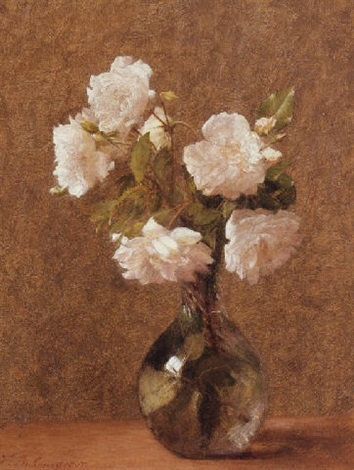 white roses in a vase by victoria dubourg fantin latour