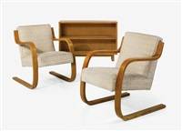 pair of armchairs, model no. 34/402 by alvar aalto