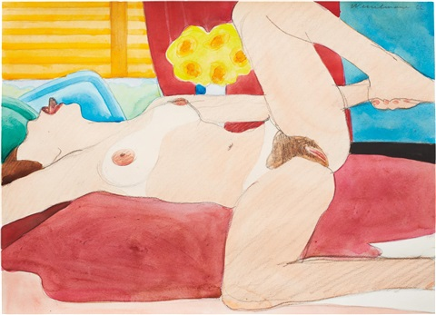drawing for great american nude 87 by tom wesselmann