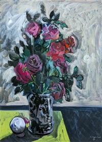 vaso di rose by giuseppe piombanti ammannati
