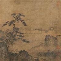 举杯对月图 by ma yuan
