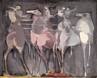 horses and riders by alfred aberdam