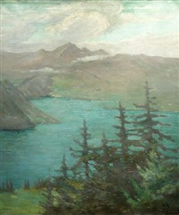 across lake louise by clara d. davidson