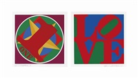 the american dream portfolio (30 works) by robert indiana