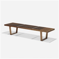 slat bench, model 4691 by george nelson & associates