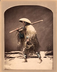 coolie en manteau d'hiver by raimund von (baron) stillfried-rathenitz
