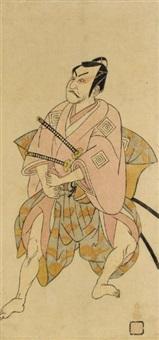 the actor ichikawa danjûrô iv (hosoban) by toyoharu