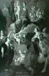 maria mit dem kind erscheint hilfesuchenden by pietro de pomis