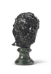 l'homme au nez cassé, version dite type ii, deuxième modèle by auguste rodin