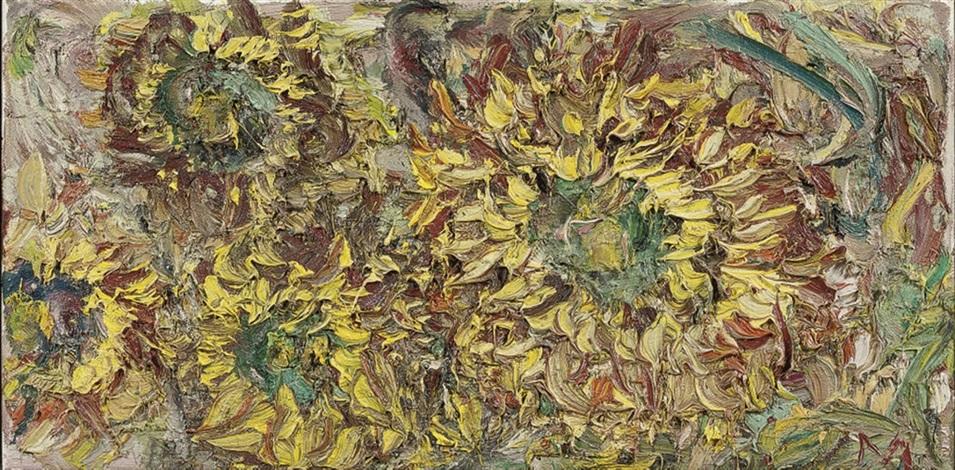 zonnebloemen herfst iii by marc mulders