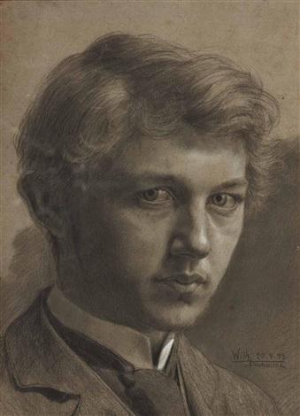 selbstporträt by wilhelm dachauer