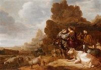 the departure of abraham and sarah from lot and his wife by gerrit claesz bleker