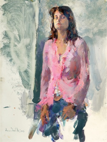 young woman by amnon david ar
