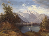maler am alpensee by joseph hoegg