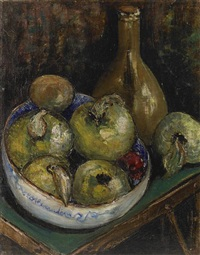 bowl of quince by sara dora block alexander