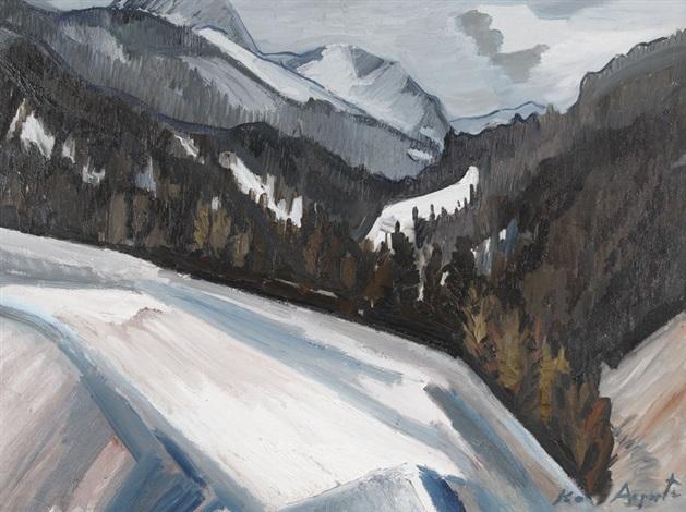 winterlandschaft in graubünden by karl aegerter