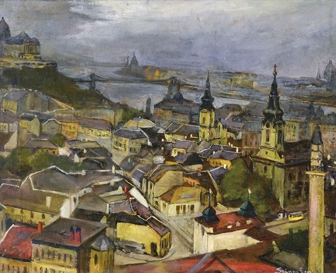 View of Budapest by Elemer Szines on artnet 72cb63f2ed