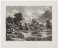 spring (+ 2 others; 3 works, after john constable, various sizes) by david lucas