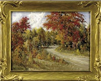 country road in autumn by w. francis snow