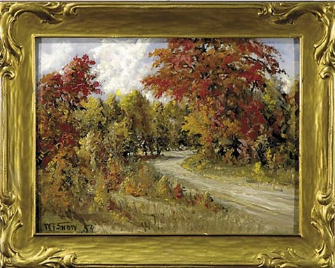 country road in autumn by w francis snow