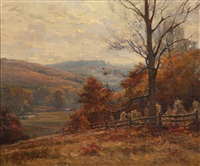 sweeping autumn landscape by john frost