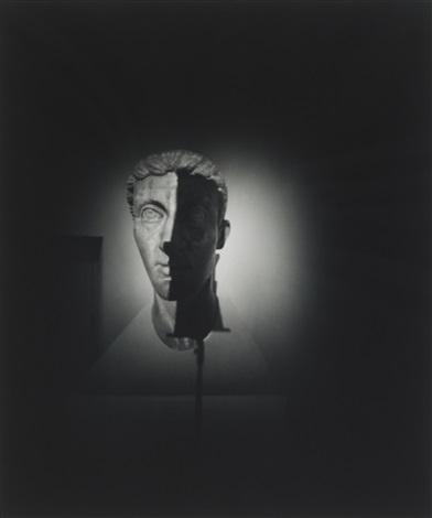 untitled roman head from pinholes by adam fuss