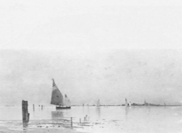 fischerboote vor venedig by eduard fischer